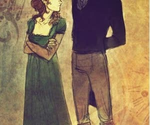 pride and prejudice, book, and couple image