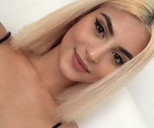 beauty, blond, and makeup image