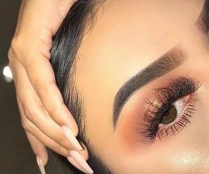 beauty, highlight, and eyelashes image