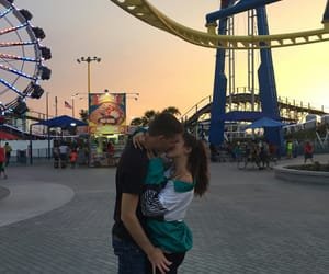 boyfriend, girlfriend, and kissing image