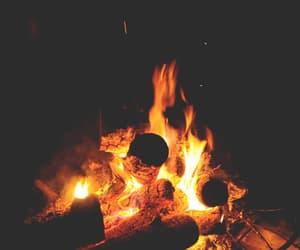 fuego, Noche, and fogata image