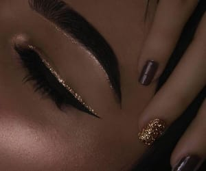 eye, glitter, and nails image