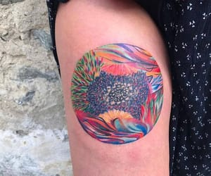nature, tattoo, and watercolor tattoo image