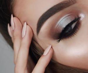 blue eyes, eye, and eyebrows image