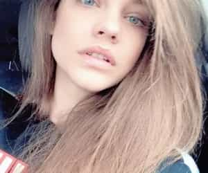 blue eyes, pretty, and supermodel image