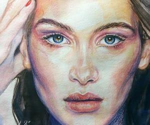 art, model, and portrait image