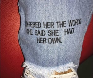 quotes, jeans, and tumblr image