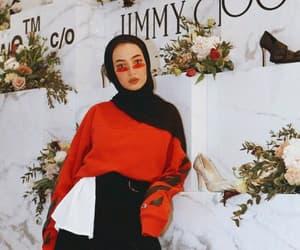 hijab, Jimmy Choo, and style image