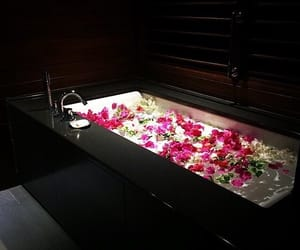 bath, flowers, and luxury image