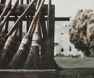 broom, harry potter, and quidditch image