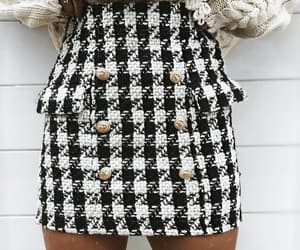 accessories, skirt, and black and white image