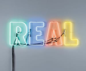 neon, real, and sign image