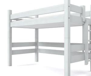 twin loft bed, custom beds, and solid wood loft bed image