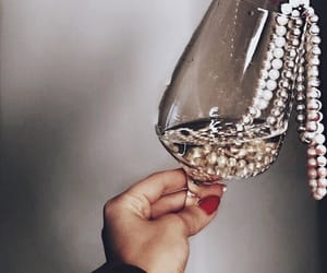 jewelry, pearls, and drink image
