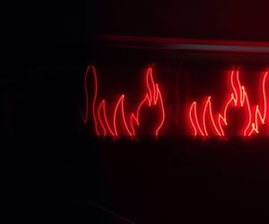 alternative, fire, and neon sign image