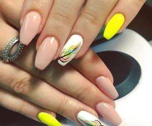 beautiful, nails, and yellow image