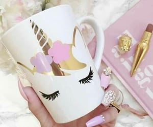 unicorn, pink, and cup image