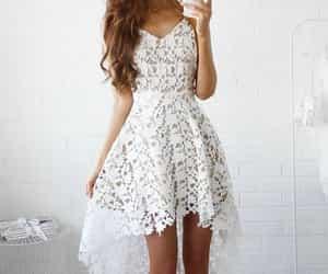 blanco, vestido, and dress image