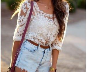 shorts, top, and fashion image