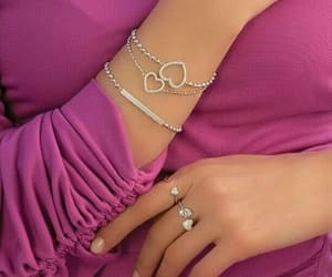 bracelet, heart, and jewelry image
