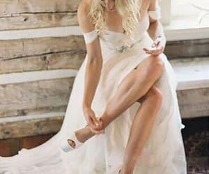 chiffon wedding dress and country wedding dress image