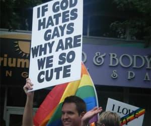 gay, god, and funny image