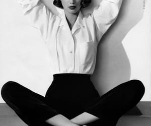 ballerina, ballet flats, and Christy Turlington image