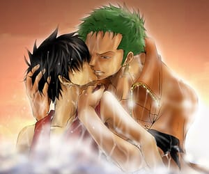 luffy, zoro, and one piece image