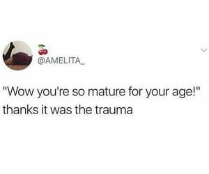 feelings, trauma, and funny image