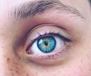 blue, blue eyes, and eyelashes image