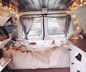 van, bedroom, and lights image
