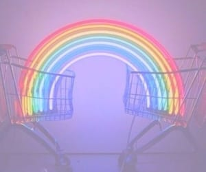 rainbow, grunge, and light image