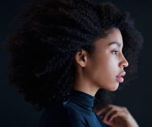 beauty, kinky hair, and big hair image