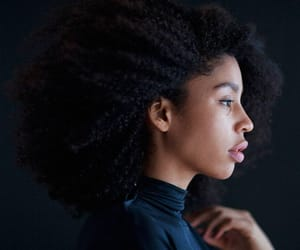 beauty, black women, and pretty hair image