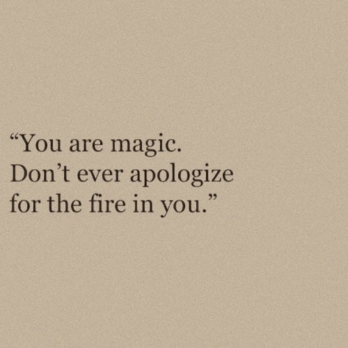 quotes, magic, and fire image