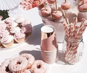 donuts, drink, and rose image