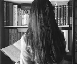 beautiful, black&white, and bookshelf image