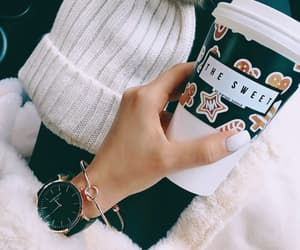 coffee, fashion, and nails image