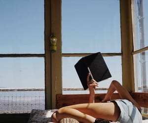 book, reading, and girl image