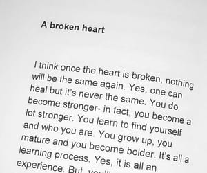 quotes, broken heart, and heart image