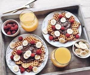 food, waffles, and yummy image