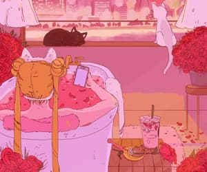 aesthetic, sailor moon, and animation image