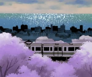 animation, anime sakura, and anime landscape image
