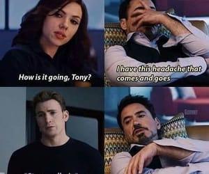 tony stark, steve rogers, and Avengers image