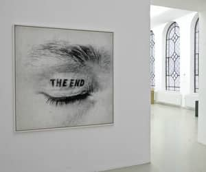 art, end, and black image