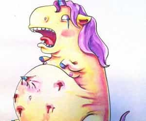crazy, unicorn, and pregnant image