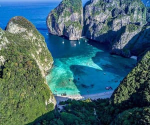 beach, travel, and thailand image