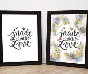etsy, made with love, and nursery print image