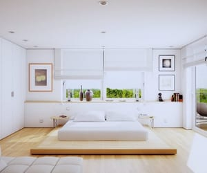 bedroom, interior, and Chambre image