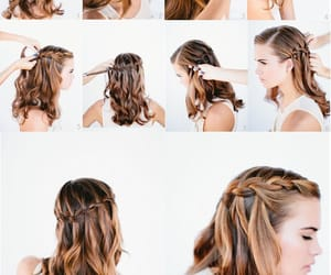 coiffure, hair tutorial, and hairstyle image
